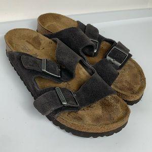 BIRKENSTOCK Sz 5/36 Suede Soft Footbed Sandals